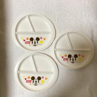 ディズニー(Disney)のミッキーマウス  ワンプレート  3枚(プレート/茶碗)