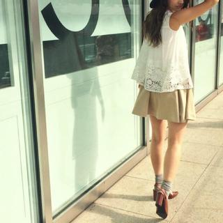 マーキュリーデュオ(MERCURYDUO)の『MERCURYDUO』スエード調 サイドボタン スカート マーキュリーデュオ(ミニスカート)