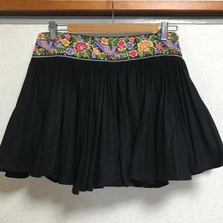 セタイチロウ(seta ichiro)のセタイチロウ ヴィア バス ストップ 刺繍 ウール プリーツ スカート(ミニスカート)