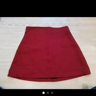 ザラ(ZARA)のZARA WOMAN 赤 ミニスカート(ミニスカート)