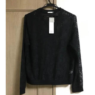 ジーユー(GU)のレースTシャツ(Tシャツ(長袖/七分))