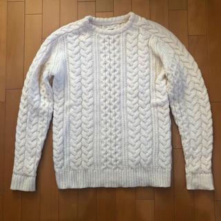 ロンハーマン(Ron Herman)のRHC ロンハーマン メンズ★ 白 ケーブルニット セーター(ニット/セーター)