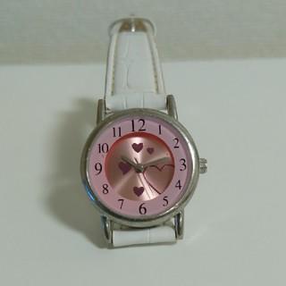 キッズ、レディース ウォッチ 腕時計 ハート ホワイト(腕時計)