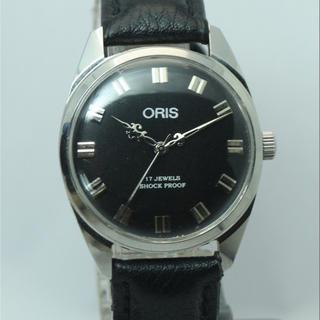 オリス(ORIS)の素敵なデザイン針 ブラックフェイス オリス 手巻き腕時計(腕時計(アナログ))