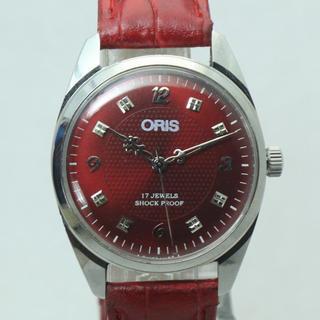 オリス(ORIS)の素敵なデザイン針 レッドフェイス オリス 手巻き腕時計(腕時計(アナログ))
