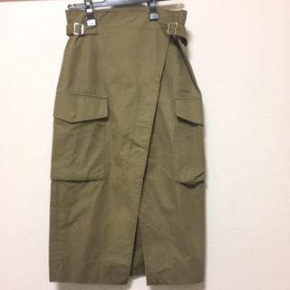 プラージュ(Plage)のJANE SMITH ARMYスカート カーキ 36(ひざ丈スカート)