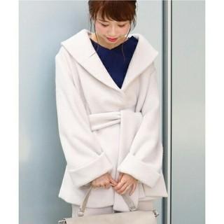 ノーブル(Noble)の美品★ノーブル★シャギーショートコート★36(ガウンコート)