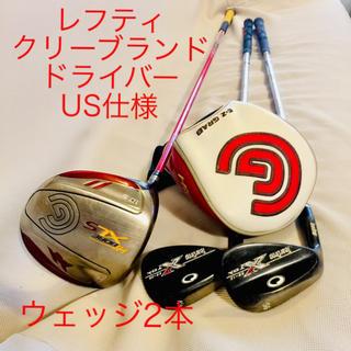 クリーブランドゴルフ(Cleveland Golf)のレフティ、USクリーブランドドライバーteardropウエッジ2本(クラブ)