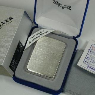 ジッポー(ZIPPO)のZippo 1941 レプリカ/スターリングシルバー#24 純銀無垢 サテン(タバコグッズ)