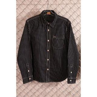 バンソン(VANSON)の交渉有り VANSON クロスボーン  刺繍 ウォバッシュ コットンシャツ(シャツ)