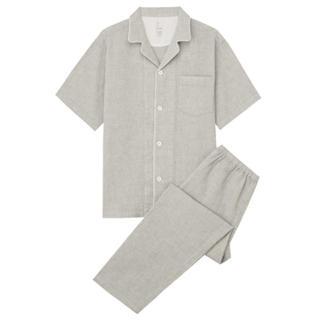 MUJI (無印良品) - 新品  無印良品  脇に縫い目のないワッフル半袖パジャマ