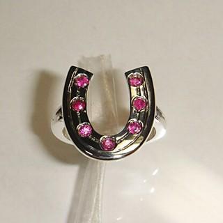 ★本数わずか値引き★秋いいね★ルビーの蹄鉄デザインのSV925指輪(リング(指輪))