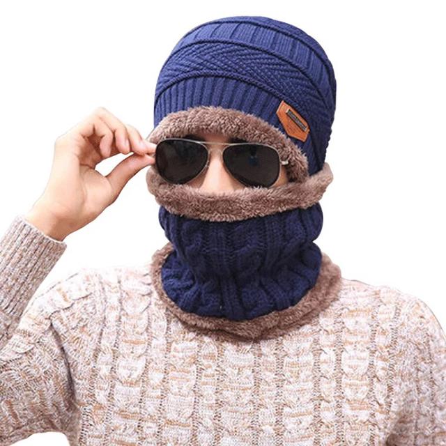 ニット帽 無地 防寒 ネックウォーマー アウトドア 新品 送料無料 メンズの帽子(ニット帽/ビーニー)の商品写真