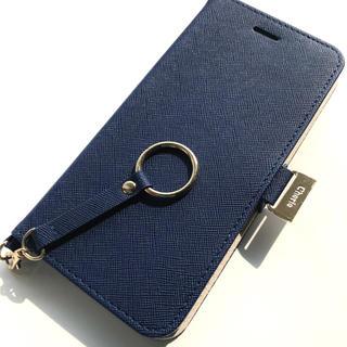 エレコム(ELECOM)のiPhone8Plus/7Plus用★磁石★ストラップ★スタンド★カード入★BU(iPhoneケース)