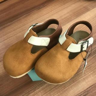 スウェードの靴 17cm(スリッポン)
