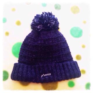 フリース裏地♡スノボで使用 ニット帽(ニット帽/ビーニー)