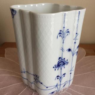 ロイヤルコペンハーゲン(ROYAL COPENHAGEN)のロイヤルコペンハーゲン ブルーパルメッテベース(花瓶)