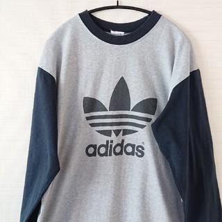 アディダス(adidas)の☆古着アディダスロゴバイカラーロンT(Tシャツ/カットソー(七分/長袖))