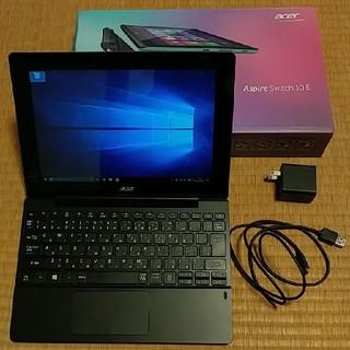 エイサー(Acer)のacer Aspire Switch 10E SharkGray 中古 極美品(ノートPC)