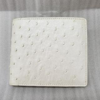 オーストリッチ(OSTRICH)の♡カラカラ♡オーストリッチ/二つ折り財布/白(財布)
