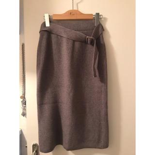 ニットスカート(ひざ丈スカート)