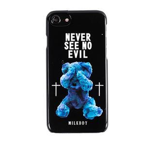 ミルクボーイ(MILKBOY)のMILKBOY×Gizmobies/SEE NO EVILBEARS BK(iPhoneケース)