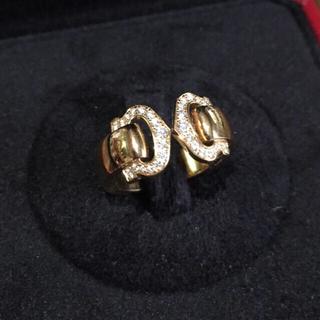 カルティエ(Cartier)の美品 カルティエ ブークルC リング ダイヤ ピンクゴールド C2(リング(指輪))