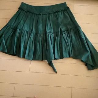 チユキ(CHIYUKI)のCHIYUKI緑のミニスカート(ミニスカート)