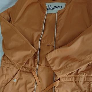 ヘルノ(HERNO)の美品 HERNO ヘルノコート ストラスブルゴ(ノーカラージャケット)