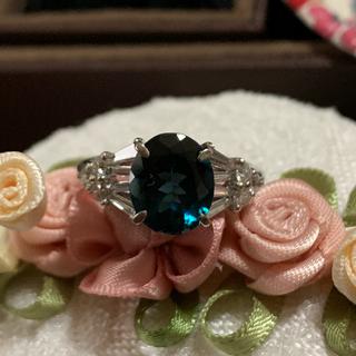 【高級品質】ブルートルマリン天然ダイアモンドリング(リング(指輪))