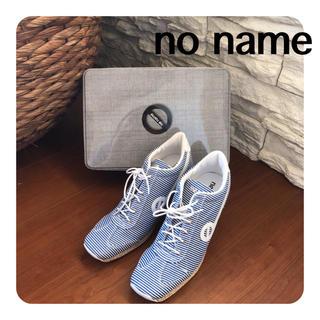 ノーネーム(No Name)の新品♡no name マリンボーダー ウェッジソールスニーカー(スニーカー)