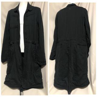 シヴァ(SIVA)のsiva シヴァ 裾ジップ 変形ロングコート ブラック JULIUS系ブランド(チェスターコート)