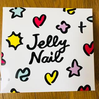 ジェリーネイル(Jelly Nail)のニッパー.プッシャー.ファイル.パーツ.粉末ラメ付き ジェルネイルキット(ネイル用品)