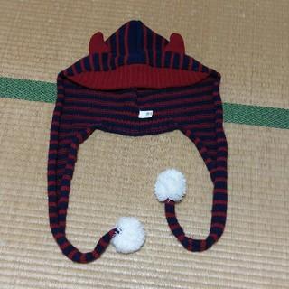エスビーワイ(SBY)のツノ付きニット帽(ニット帽/ビーニー)