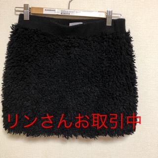 キッカザダイアリーオブ(KIKKA THE DIARY OF)の☆KIKKA モコモコタイトミニスカート36サイズ S(ミニスカート)