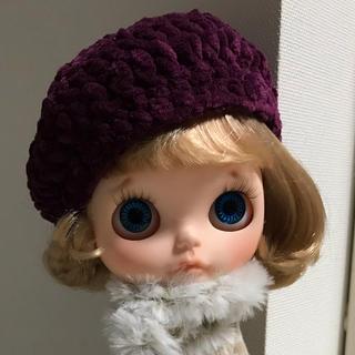ベルベット調ニットベレー帽②(人形)