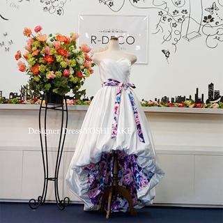 ウエディングドレス(パニエ無料) ショートドレス 披露宴/二次会(ウェディングドレス)