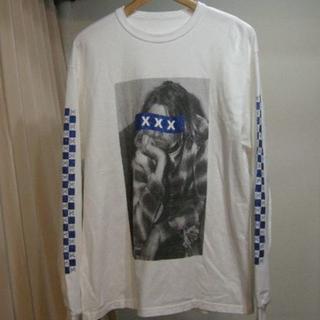 ジィヒステリックトリプルエックス(Thee Hysteric XXX)の完売 美品 GOD SELECTION XXX L/SホワイトM(Tシャツ/カットソー(七分/長袖))