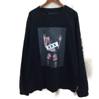 ジィヒステリックトリプルエックス(Thee Hysteric XXX)の美品 GOD SELECTION XXX L/S ブラック XL(Tシャツ/カットソー(七分/長袖))