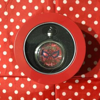 マーベル(MARVEL)のMARVEL スパイダーマン ホームカミング プレミアム懐中時計 赤 新品未開封(アメコミ/海外作品)