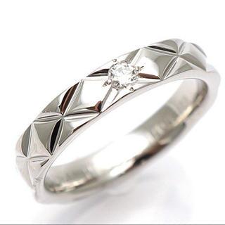 1b643cdf1ed6 シャネル(CHANEL)の正規品 シャネル マトラッセ PT950 ダイヤモンドリング(リング(指輪