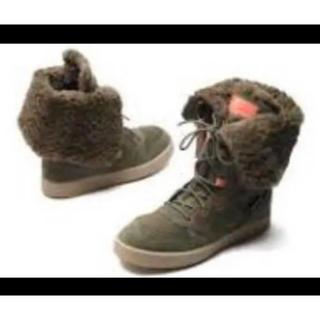 ニューバランス(New Balance)のニューバランス    ボアブーツ  防寒ブーツ   モスグリーン(ブーツ)
