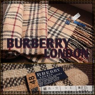バーバリー(BURBERRY)の新品同様‼️バーバリーロンドン メンズマフラー チェック アンゴラ&カシミア混(マフラー)
