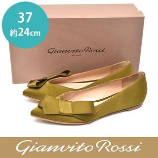ジャンヴィットロッシ(Gianvito Rossi)の美品❤ジャンヴィトロッシ リボン サテン パンプス 37(約24cm)(ハイヒール/パンプス)