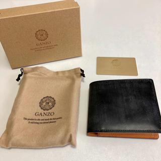 ガンゾ(GANZO)の【新品】GANZO * シンブライドル二つ折り財布 ブラック(折り財布)