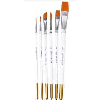 水彩画筆 水彩 油絵用筆 画筆 ペイントブラシ 6本セット(絵筆 )