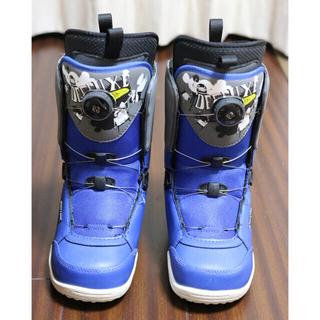 ディーラックス(DEELUXE)の美品 DEELUXE ジュニア キッズ スノーボードブーツ ボア 22cm(ブーツ)