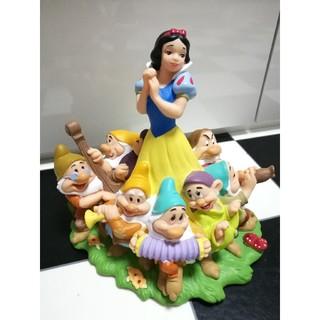 シラユキヒメ(白雪姫)のヴィンテージ ディズニー 白雪姫 七人のこびと フィギュア 貯金箱 ソフビ (キャラクターグッズ)