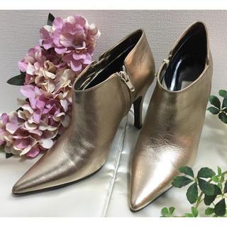 ギンザカネマツ(GINZA Kanematsu)のお買得❗️🇮🇹イタリア製オール本革、シャンパーニュブーツ(ブーツ)