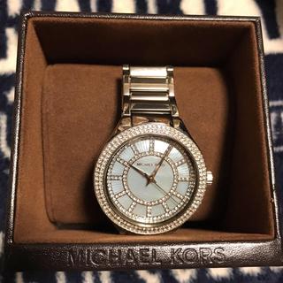 b355c7628757 マイケルコース(Michael Kors)のMICHEAL KORS ラインストーン腕時計(腕時計)